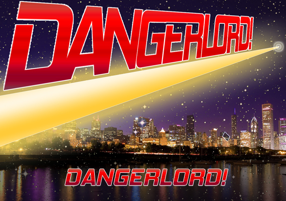 """DANGERLORD!"" is a spoof of all those great 1980s cartoons like HE-MAN and BRAVESTARR. He's a zinc-plated white metal robot with a gold face who's out to save the world... or at least he was before he got drunk and disorderly."